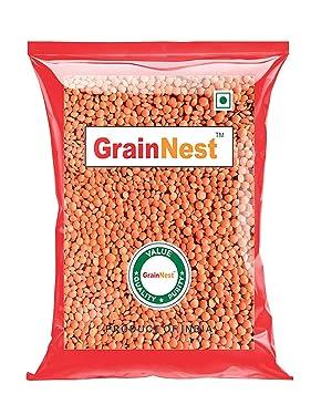 GrainNest Whole Red Masoor Dal / Whole Masoor 1Kg