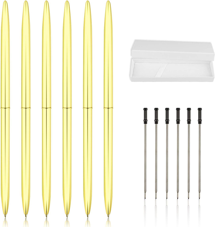 13pk - 6 Slim Retractable Ballpoint We OFFer at cheap prices Plus I Gold Pen Black Pens Bargain