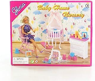 Juego de muebles para casa de muñecas de tamaño Barbie