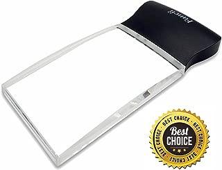 Fancii LED Light 2X Large Rectangular Handheld Reading Magnifying Glass, 2.3