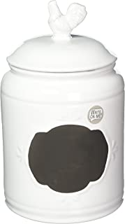 Home Essentials White Large Chalk Rooster Canister