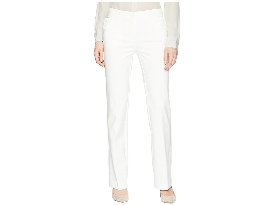 Anne Klein Flare Leg Pants (White) Women