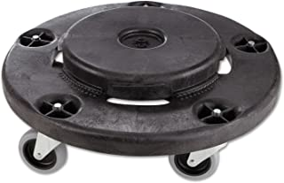 Brute Round Twist On/Off Dolly, 250lb Capacity, 18dia x 6 5/8h, Black(Renewed)