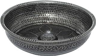 Turkish Authentic Copper Bath Bowl & Hammam Bowl (440gr (15.50 oz) Made of Zinc (Black)