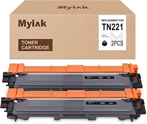 high quality MYIK Compatible Toner Cartridge Replacement for Brother TN221 TN-221 to use with high quality HL-3140CW HL-3170CDW HL-3180 MFC-9130CW MFC-9330CDW discount MFC-9340CDW (Black,2 Pack) outlet online sale