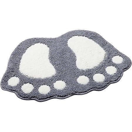 Alfombra de baño ParaCity con dibujo de pies grandes, absorbente y antideslizante, Gris, 40*60CM