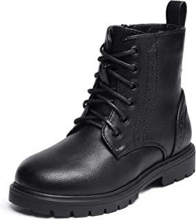 DREAM PAIRS Boys Girls Side Zipper Combat Ankle Boots(Toddler/Little Kid)