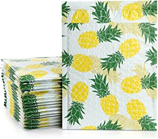 UCGOU 6x10 Inch Poly Bubble Mailers Padded Envelopes Pineapple Designer Boutique Custom Bags CD DVD Mailers Pack of 25