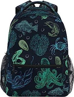 Kids School Backpack Geometric Blocks Bookbag for 1st 2nd 3rd 4th Grade