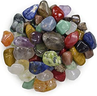 Hypnotic Gems 2 Pounds Brazilian Tumbled Polished Natural Stones Assorted Mix - Small Size - 0.75