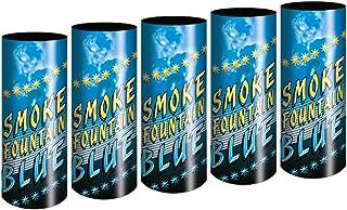 5 Stück h2i Bengalo Rauch Vulkan Fontäne Party Feuerwerk Rauchfarbe blau/Ganzjahresfeuerwerk Kat T1/F1