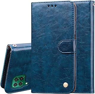 Nadoli PU-läderfodral till Huawei P40 Lite, retro elegant affärsstil ädelt flip plånbok läderfodral stötsäkert skyddande f...