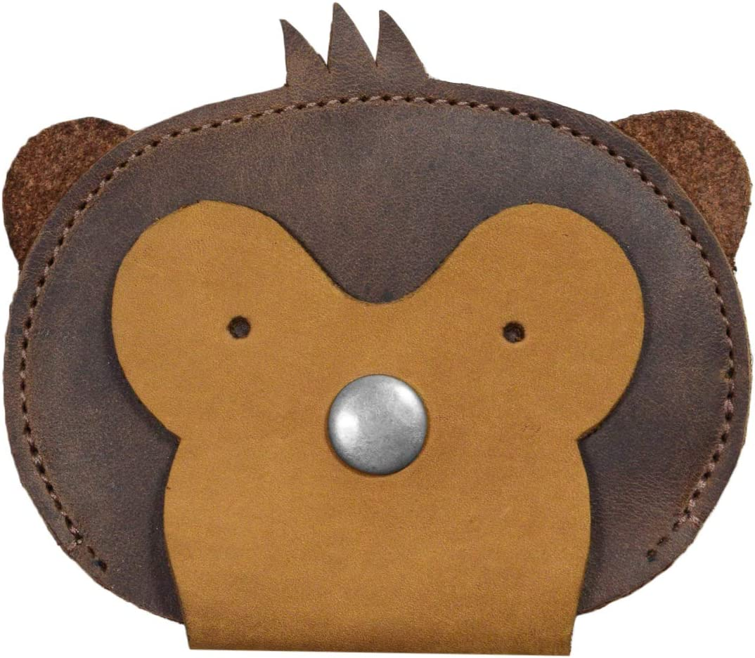 Hide & Drink, Leather Monkey Wallet / Coin Pouch / Purse / Accessories / Card Holder / Cute Wallet , Handmade :: Bourbon Brown