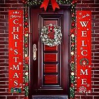 Feeke Outdoor/Indoor Merry Christmas Outdoor Sign (Red)
