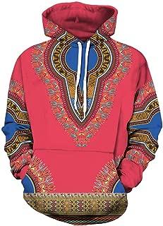 Rambling New Lovers Autumn Winter African 3D Print Long Sleeve Dashiki Hoodies Sweatshirt Top