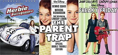 Disney Lindsay Lohan Triple Pack Fun Parent Trap / Herbie Fully Loaded / Freaky Friday 3 Family Movie Feature