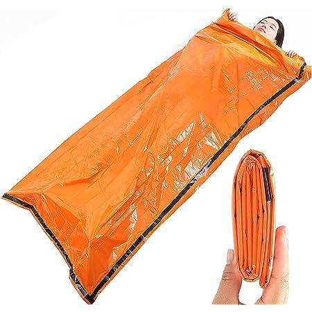 サバイバルシート エマージェンシーシート 非常時用寝袋 2枚 ブランケット コンパクト 軽量 繰り返し使用可 避難 アウトドア 登山 車中泊 地震 津波 防寒 防水 防風