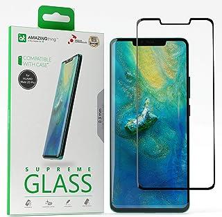 واقي شاشة ثلاثي الابعاد من الزجاج الفائق بسماكة 0.33 ملم بتغطية كاملة لهاتف هواوي ميت 20 برو من اميزنج ثينج