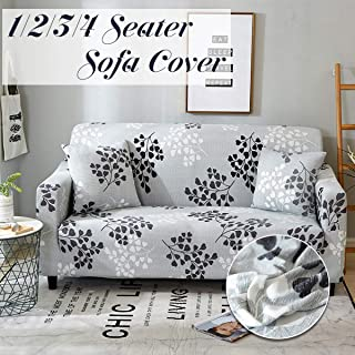 BOZLIZ - Sofa Cover - Autumn Gongko 1 2 3 4 Seater Home Soft Elastic All Inclusive Slip Resistant Sofa Cover Easy Stretch - Grips Queen Furniture Cotton Universal Storage Printed Only Protector Seat S