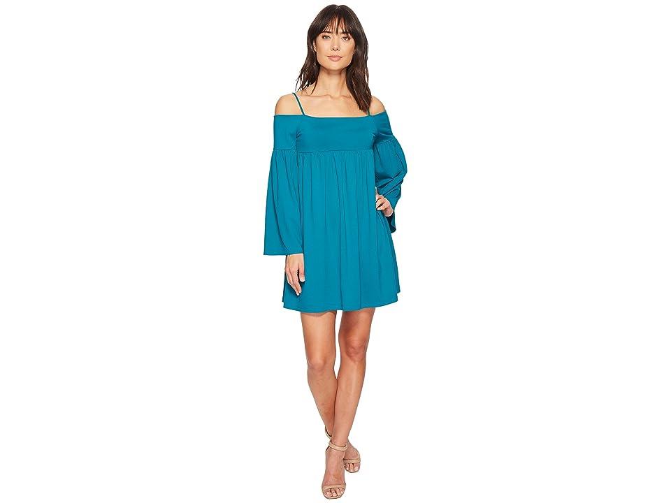 Susana Monaco Alyssa String Off Shoulder Dress (Galapagos) Women