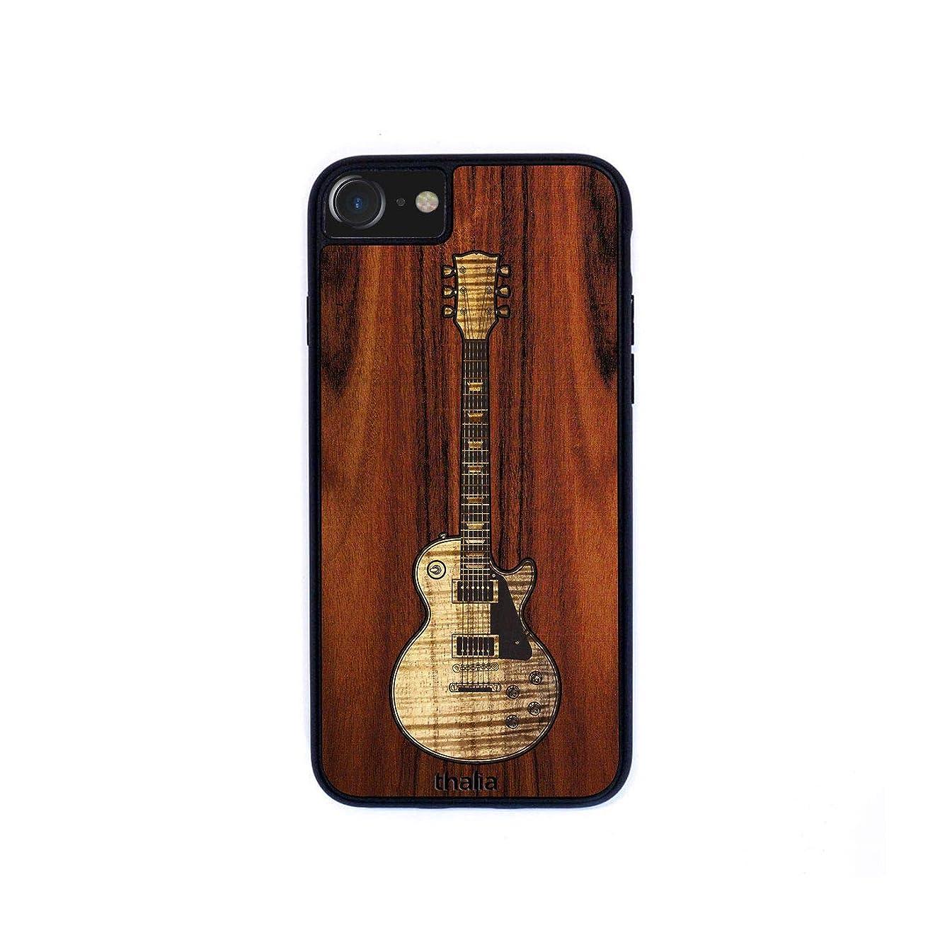 Santos Rosewood & Les Paul Hawaiian Koa Inlaid Guitar Phone Case   Thalia Exotic Wood Cases iPhone 6/7/8