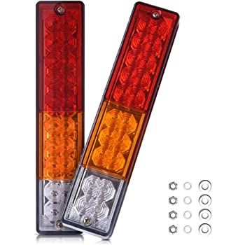 MICTUNING LED テールランプ 20個LED スモール ブレーキ ウインカー バック ライト 汎用 多用途(2個セット)二年保証