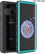 Samsung Galaxy S9 Plus Waterproof Case, Fansteck IP68 Waterproof/Snowproof/Shockproof/Dirtproof, Full-Body Protective Case with Built-in Screen Protector for Galaxy S9+ (6.2 inch-Black/Aqua Blue)