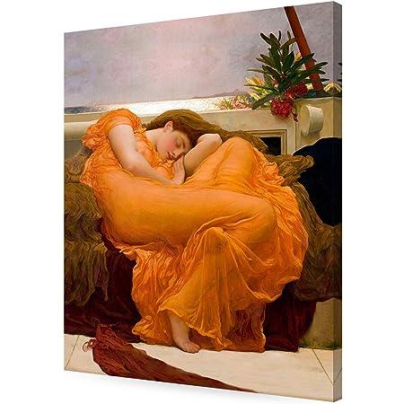 100x100cm #47078 Frederic Lord Leighton Flaming June Poster Kunstdruck Bild