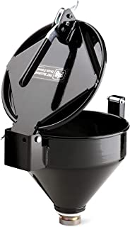 """New Pig Burpless One-Hand-Sealable Steel Drum Funnel, For 5 to 55 Gal Steel or Poly Drums w/ 2"""" NPT, 15"""" L x 11.25"""" W x 13..."""