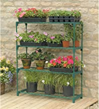 metal greenhouse staging