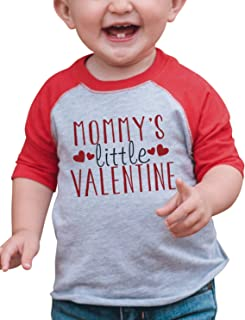 7 ate 9 Apparel Boy's Mommy's Little Valentine Toddler Vintage Baseball Tee