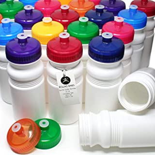 Rolling Sands 20 Ounce Sports Water Bottles 100 Pack, BPA-Free, Made in USA, Dishwasher Safe