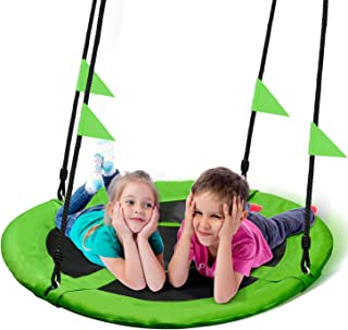 PACEARTH 40 Inch Saucer Tree Swing Flying 660lb Weight Capacity 2 Added Hanging Straps..