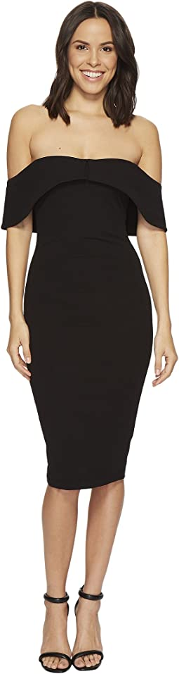 Hale Bob - Strut Your Stuff Stretch Crepe Off Shoulder Dress