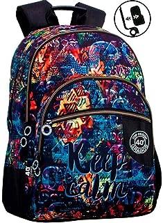 Montichelvo Double Backpack A.O. CG Keep Calm Bolsa Escolar, 43 cm, (Multicolour)