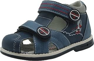 Apakowa Kids Boys Double Adjustable Strap Closed-Toe Orthopedic Sandals
