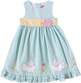Little Girls White Hot Pink Sequin Watermelon Sleeveless Easter Dress 2T-6X