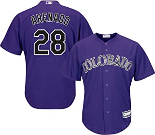 Nolan Arenado Colorado Rockies Purple Youth Cool Base Alternate Replica Jersey