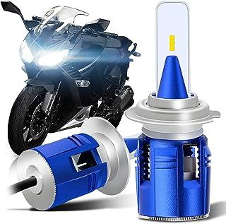 WinPower バイク用 H7 ヘッドライト LEDバルブ DC12V 35W 6500K 10800LM(5400LM×2)一体型LEDランプ 五面発光 CSPチップ搭載 冷却ファン付き 2年保証 2個セット