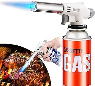 トーチバーナー アウトドア ガスバーナー 900℃~1300℃ 炎調整可能 炙り料理 バーベキュー 炭の火越し 凍結解氷 釣り 溶接など使える