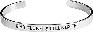Stillbirth Awareness Bracelet - Battling Stillbirth - Stamped Bracelets Jewelry Product Gifts for Men/Women