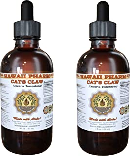 Cat's Claw Liquid Extract, Cat's Claw (Uncaria Tomentosa) Dried Inner Bark Tincture Liquid Extract (2 X 4 oz) by HawaiiPharm