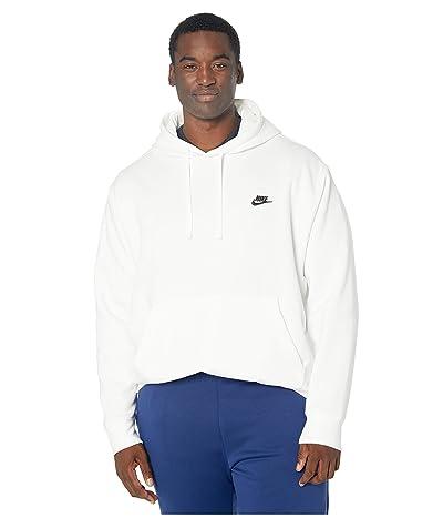 Nike Big Tall NSW Club Hoodie Pullover (White/White/Black) Men