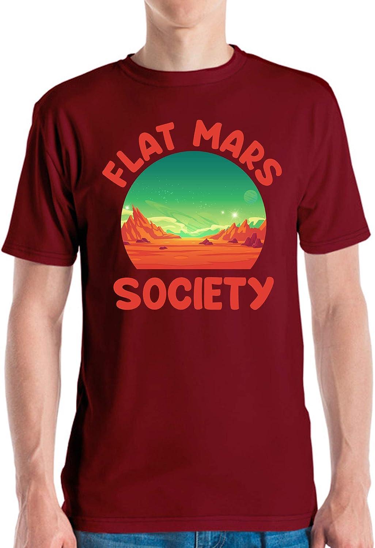 Flat Mars Society Space Astronaut Astronomy Science T-Shirt Men Women