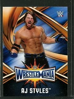 Wrestling Wrestling 2017 WWE Road to WrestleMania WrestleMania 33 Roster #WMR-19 AJ Styles NM-MT