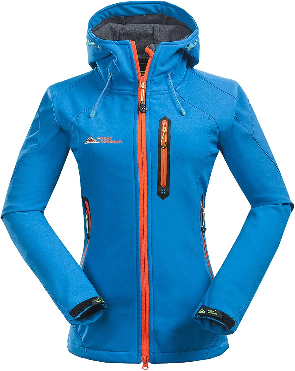 MOUNT CONQUER Topway Women's Softshell Water Resistant Windproof Lady Sport Hooded Jacket Coat