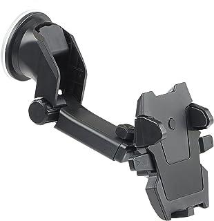 Callstel Handyhalter Auto: Kfz Smartphone Armaturenbrett Halterung, 360° Teleskop, One Touch (Handyhalterung Kfz)