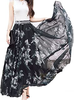 Afibi Women Full/Ankle Length Blending Maxi Chiffon Long...