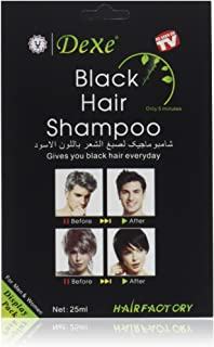 Instant Hair Dye - Black Hair Shampoo - (3) Black Color - Simple to Use - Last 30 days - Natural Ingredients