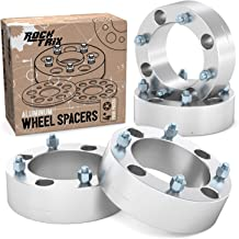 RockTrix - 2 inch ATV Wheel Spacers (4x137, 110mm Bore, 10x1.25 Studs and Cone Seat Nuts) Compatible with various Kawasaki Can-Am Bombardier (Read Listing for Year Model) UTV Silver V3 50mm 4pcs